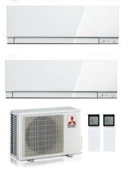 MITSUBISHI ELECTRIC KIT DUAL KIRIGAMINE ZEN MXZ-2F33VF + 2  x MSZ-EF18VE3-W INV. 5+5 (Gas R-32)