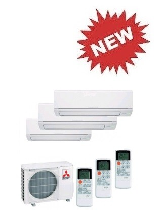 MITSUBISHI ELECTRIC CLIMATIZZATORE TRIAL MXZ-3DM50VA + 2 x MSZ-DM25VA + MSZ-DM35VA INVERTER P/C 9+9+12