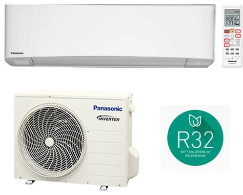 PANASONIC MONO CS-XZ9SKEW/CU-Z9SKE ETHEREA SILVER 9000 BTU INVERTER P/C A+++/A++ Gas R-32