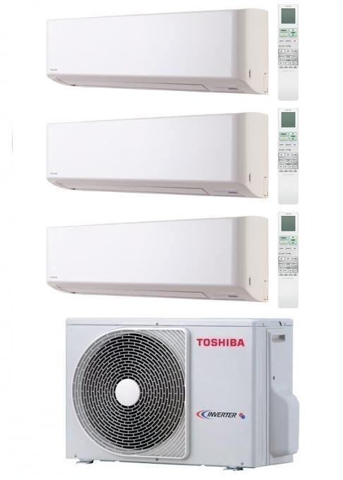 TOSHIBA KIT TRIAL SUPER DAISEIKAI EVO RAS-3M18SAV-E + RAS-B10N3KVP + RAS-B10N3KVP + RAS-B16N3KVP Inverter P/C 9+9+15
