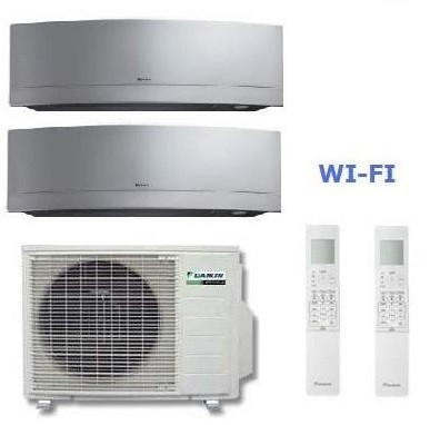 DAIKIN CLIMATIZZATORE DUAL Emura 2MXS50H + FTXG25LS-W + FTXG50LS-W 9+17 WI-FI
