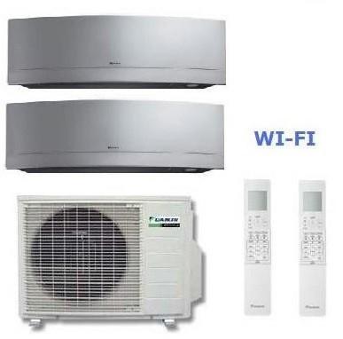 DAIKIN CLIMATIZZATORE DUAL Emura 2MXS50H + FTXG35LS-W + FTXG50LS-W 12+17 WI-FI