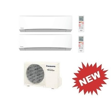 PANASONIC DUAL Standard Inverter CU-2RE18SBE + CS-TZ12SKEW + CS-TZ12SKEW 12000+12000 BTU