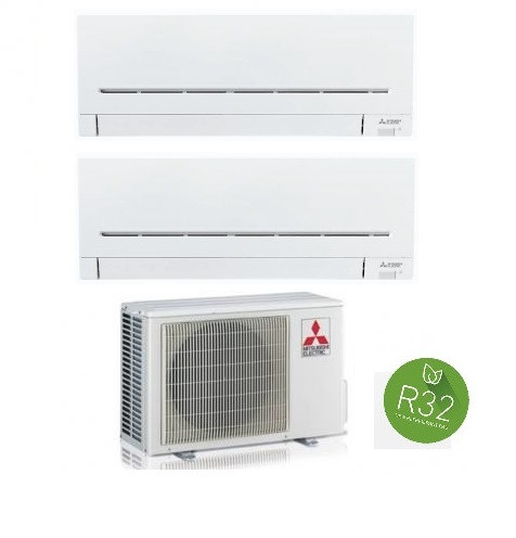 MITSUBISHI ELECTRIC KIT DUAL Serie PLUS MXZ-2F53VF + 2 x MSZ-AP25VG 9+9 (Gas R-32)