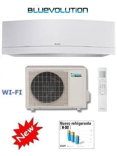 DAIKIN CLIMATIZZATORE MONO INVERTER EMURA WHITE FTXJ25MW/RXJ25M WI-FI INVERTER PC 9000 GAS R-32