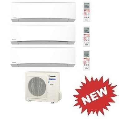 PANASONIC TRIAL Standard Inverter TZ CU-3RE18SBE + 2 x CS-TZ9SKEW + CS-TZ18SKEW 9+9+18 BTU