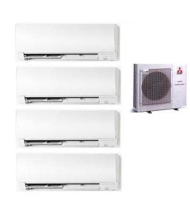 MITSUBISHI ELECTRIC KIT QUADRI MXZ-4D/E83VA KIRIGAMINE + 2 x MSZ-FH25VE + MSZ-FH35VE + MSZ-FH50VE 9+9+12+18