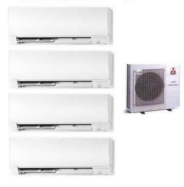 MITSUBISHI ELECTRIC CLIMATIZZATORE KIT QUADRI MXZ-4D/E72VA KIRIGAMINE + 3 x MSZ-FH25VE + MSZ-FH50VE 9+9+9+18