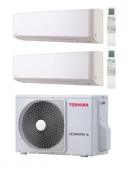 TOSHIBA KIT DUAL SUPER DAISEIKAI EVO RAS-M18UAV-E + B13N3KVP-E + B13N3KVP-E Inverter P/C 12+12