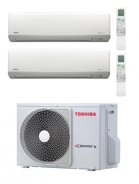 TOSHIBA KIT DUAL AKITA EVO RAS-M18UAV-E + 2 x RAS-B10N3KV2-E Inverter P/C 9+9
