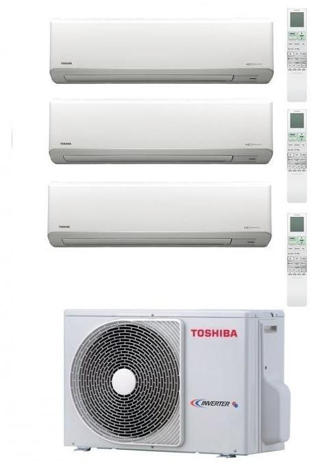 TOSHIBA KIT TRIAL AKITA EVO RAS-3M18SAV-E + 2 x RAS-B10N3KV2 + RAS-B13N3KV2 Inverter P/C 9000+9000+12000