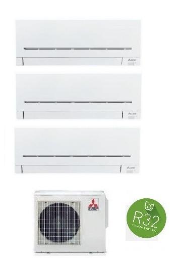 MITSUBISHI ELECTRIC KIT TRIAL Serie PLUS MXZ-3F68VF + MSZ-AP25VG + 2 x MSZ-AP35VG 9+12+12 (Gas R-32)
