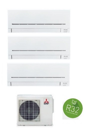 MITSUBISHI ELECTRIC KIT TRIAL Serie PLUS MXZ-3F68VF + 3 x MSZ-AP25VG 9+9+9 (Gas R-32)