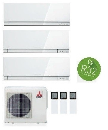 MITSUBISHI ELECTRIC KIT TRIAL KIRIGAMINE ZEN MXZ-3F54VF + 2 x MSZ-EF18VE3-W + MSZ-EF42VE3-W/S/B INV. 5+5+15 (Gas R-32)