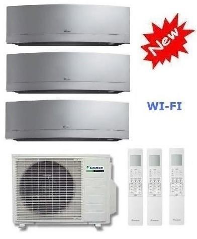 DAIKIN CLIMATIZZATORE TRIAL Emura 3MXS52E + 2 x FTXG20LS-W +  FTXG35LS-W 7+7+12 WI-FI