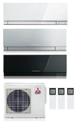 MITSUBISHI ELECTRIC KIRIGAMINE ZEN KIT TRIAL MXZ-3D/E68VA + 3 x MSZ-EF25VE2-W/S/B 9+9+9