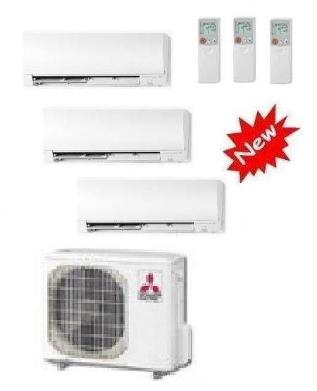 MITSUBISHI ELECTRIC KIT TRIAL KIRIGAMINE MXZ-3D/E54VA2 + 3 x MSZ-FH25VE 9+9+9 INVERTER P/C