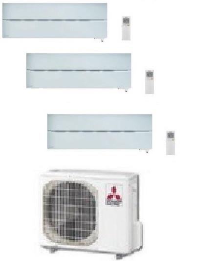 MITSUBISHI ELECTRIC KIT TRIAL SERIE LN MXZ-3E54VA2 + 3 x MSZ-LN25VGW 9+9+9 - WI-FI - Gas R-410A