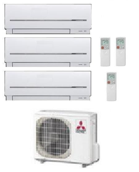 MITSUBISHI ELECTRIC CLIMATIZZATORE KIT TRIAL MXZ-3D/E68VA + MSZ-SF20VA + MSZ-SF25VE + MSZ-SF42VE 7+9+15
