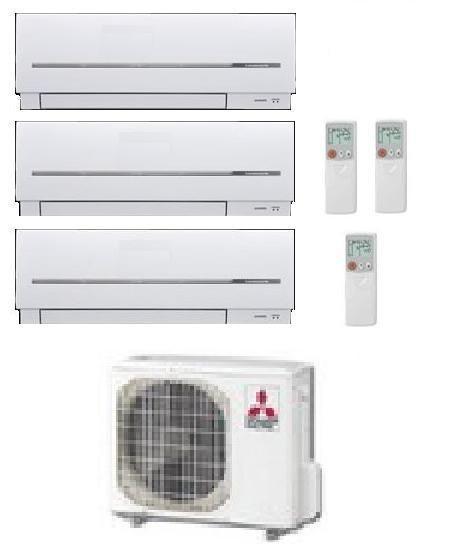 MITSUBISHI ELECTRIC CLIMATIZZATORE TRIAL MXZ-3D/E68VA + MSZ-SF20VA + MSZ-SF25VE + MSZ-SF35VE 7+9+12