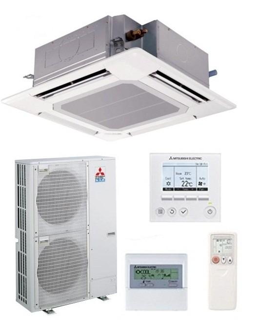 MITSUBISHI Electric Power Inverter PLA-RP125BA/PUHZ-ZRP125VKA(2) Cassetta 90x90 MONOFASE (Griglia inclusa, Comando escluso)