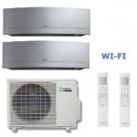 DAIKIN CLIMATIZZATORE DUAL Emura 2MXS50H + FTXG25LS-W + FTXG35LS-W 9+12 WI-FI