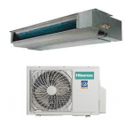 HISENSE CLIMATIZZATORE MONO Inverter CANALIZZATA ADT35UX4RBL4/AUW35U4RS4 12000 BTU/h P/C - Gas R-32