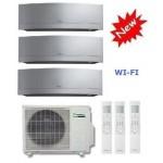 DAIKIN CLIMATIZZATORE TRIAL Emura 3MXS52E + 2 x FTXG25LS-W +  FTXG35LS-W 9+9+12 WI-FI