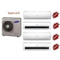 SAMSUNG QUADRI Serie AR7000M Smart WI-FI AJ080FCJ4EH/EU + 3 x AR09HSSDB + AR12HSSDB 9+9+9+12