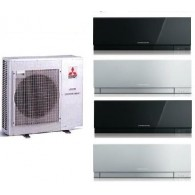 MITSUBISHI ELECTRIC KIT QUADRI MXZ-4E83VA + 2 x MSZ-EF25VE2-W/B/S + 2 x MSZ-EF35VE2-W/B/S 9+9+12+12