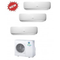 HISENSE CLIMATIZZATORE TRIAL MINI APPLE PIE 3AMW70U4SAD1 + 3 x TG25VE10G INVERTER P/C 9+9+9 - Gas R-410A
