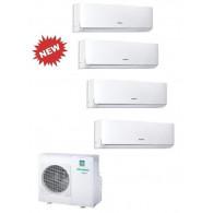 HISENSE CLIMATIZZATORE QUADRI NEW COMFORT 4MW105U4SAD1 + 3 x DJ20VE00G + DJ35VE00G INVERTER P/C 7+7+7+12 - Gas R-410A