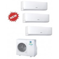 HISENSE CLIMATIZZATORE TRIAL NEW COMFORT 3AMW70U4SAD1 + 2 x DJ25VE00G + DJ50XA00G INVERTER P/C 9+9+18 - Gas R-410A