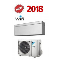 DAIKIN CLIMATIZZATORE MONO INVERTER STYLISH SILVER FTXA25AS/RXA25A WI-FI INVERTER PC GAS R-32 9000 A+++