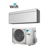 DAIKIN CLIMATIZZATORE MONO INVERTER STYLISH SILVER FTXA25AS/RXA25A WI-FI INVERTER PC GAS R-32 9000 A+++