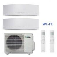 DAIKIN CLIMATIZZATORE DUAL Emura 2MXS50H + FTXG35LW-W + FTXG50LW-W 12+17 WI-FI