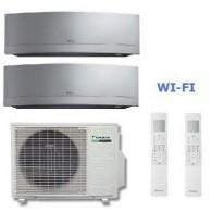 DAIKIN CLIMATIZZATORE DUAL Emura 2MXS40H + FTXG25LS-W + FTXG35LS-W 9+12 WI-FI + OMAGGIO STAFFA