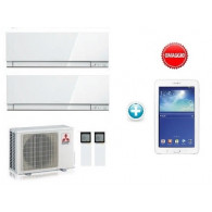 MITSUBISHI ELECTRIC KIT DUAL KIRIGAMINE ZEN MXZ-2D33VA + MSZ-EF22VE3-W + MSZ-EF25VE3-W 7+9 + OMAGGIO TABLET SAMSUNG GALAXY TAB3 SM-T113 WHITE SE PAGHI CON PAYPAL