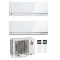 MITSUBISHI ELECTRIC KIT DUAL KIRIGAMINE ZEN MXZ-2D33VA + 2 x MSZ-EF22VE3-W INV. 7+7 P/C