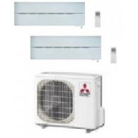 MITSUBISHI ELECTRIC KIT DUAL SERIE LN MXZ-2D53VA + 2 x MSZ-LN25VGW INV. 9+9 - WI-FI - Gas R-410A
