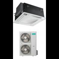 HISENSE CLIMATIZZATORE MONO Inverter CASSETTA AUC140UR4SHB3/AUW140U6SP3 43000 BTU/h P/C (Pannello PE-DA-D29 & Telecomando inclusi)