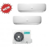 HISENSE CLIMATIZZATORE DUAL MINI APPLE PIE 3AMW70U4SAD1 + TG25VE10G + TG50FA10G INVERTER P/C 9+18 - Gas R-410A
