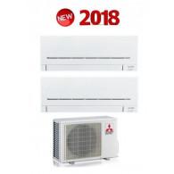MITSUBISHI ELECTRIC KIT DUAL Serie PLUS MXZ-2D42VA + 2 x MSZ-AP25VG 9+9 (Gas-R410A)