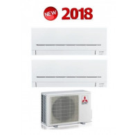 MITSUBISHI ELECTRIC KIT DUAL Serie PLUS MXZ-2D33VA + 2 x MSZ-AP20VF 7+7 (Gas-R410A)