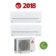 MITSUBISHI ELECTRIC KIT DUAL Serie PLUS MXZ-2F33VF + 2 x MSZ-AP20VF 7+7 (Gas R-32)