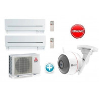 MITSUBISHI ELECTRIC KIT DUAL MXZ-2D42VA + 2 x MSZ-SF15VA 5+5 + OMAGGIO CAMERA CS-CV310-A0-3B1WFR