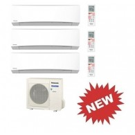 PANASONIC TRIAL Standard Inverter TZ CU-3RE18SBE + 2 x CS-MTZ7SKE + CS-TZ12SKEW 7+7+12 BTU