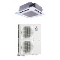 MITSUBISHI Electric Power Inverter PLA-RP140BA2/PUHZ-ZRP140VKA(2) Cassetta 90x90 MONOFASE (Griglia inclusa, Comando escluso)
