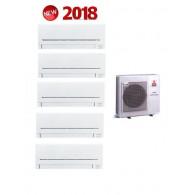 MITSUBISHI ELECTRIC KIT QUADRI Serie PLUS MXZ-5E102VA + 5 x MSZ-AP25VG 9+9+9+9+9 (Gas-R410A)