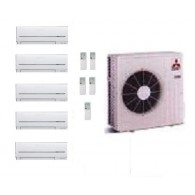 MITSUBISHI ELECTRIC CLIMATIZZATORE KIT PENTA MXZ-5D/E102VA + 3 x MSZ-SF25VE + 2 x MSZ-SF35VE 9+9+9+12+12